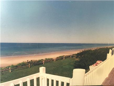 Dennis Cape Cod vacation rental - East view down the beach from the upstairs deck