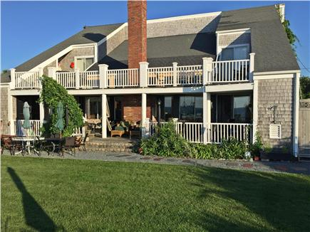 Dennis Cape Cod vacation rental - Back of home with decks overlooking Cape Cod Bay