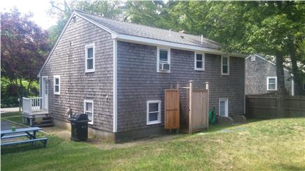 South Yarmouth Cape Cod vacation rental - Outside shower and picnic area