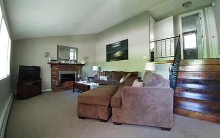 South Yarmouth Cape Cod vacation rental - Living room and upstairs hall