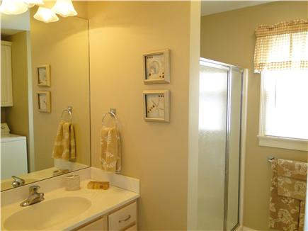 Popponesset Cape Cod vacation rental - Main floor bathroom with shower, laundry