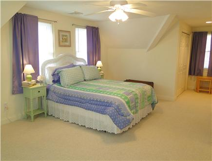 Popponesset Cape Cod vacation rental - Large upstairs queen bedroom with TV
