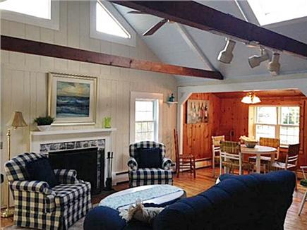 Dennis Cape Cod vacation rental - Living room with cathedral ceilings and skylight