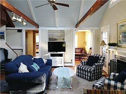 Dennis Cape Cod vacation rental - Sunny living room into den