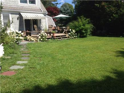 Brewster Cape Cod vacation rental - Back yard with view of deck
