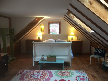Chatham Cape Cod vacation rental - Large Barn bedroom with queen bed and single