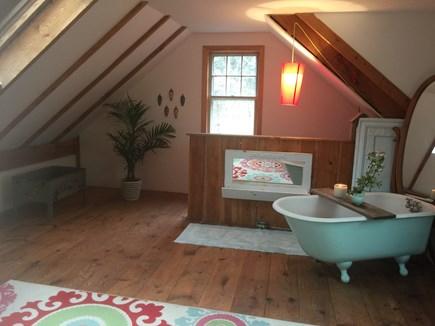 Chatham Cape Cod vacation rental - Barn Bedroom also has a clawfoot bathtub