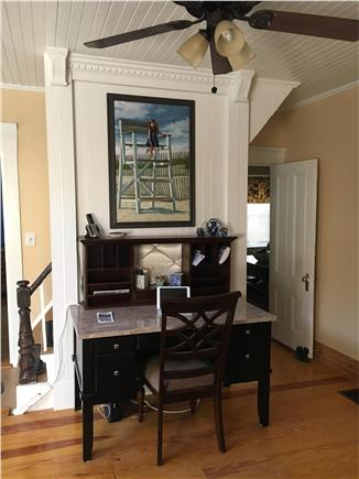 Dennisport Cape Cod vacation rental - Office area with Wi-Fi