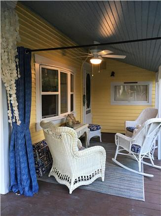 Dennisport Cape Cod vacation rental - Sitting area on porch