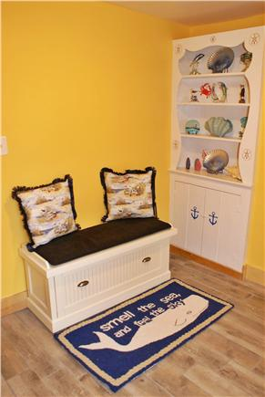 Dennisport Cape Cod vacation rental - Mudroom at side entrance with laundry room attached