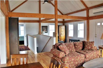North Truro Cape Cod vacation rental - Living room area with view towards bedroom