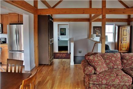 North Truro Cape Cod vacation rental - View with stairway leading to basement/ washer & dryer