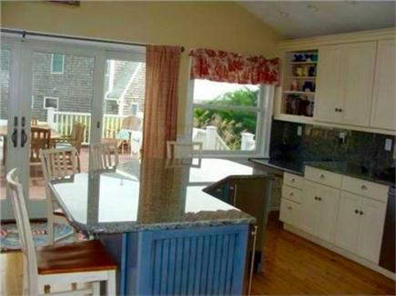 Sandwich Cape Cod vacation rental - Gourmet kitchen onto deck with water views