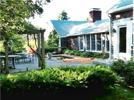 Orleans Cape Cod vacation rental - View of bluestone terrace from southwest