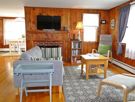 Wellfleet Cape Cod vacation rental - Living room with dining area in the background