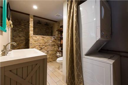 Mashpee Cape Cod vacation rental - Bath with laundry