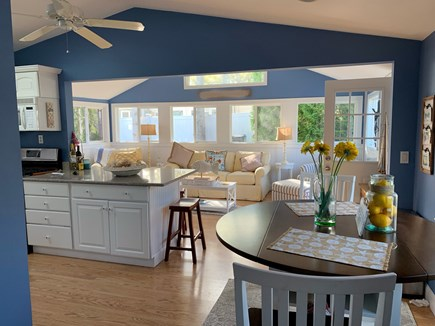 Mashpee, Popponesset Cape Cod vacation rental - Kitchen and sitting area leading out to patio