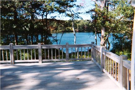 Harwich Cape Cod vacation rental - View of pond from the large deck