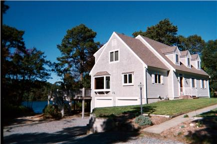 Harwich Cape Cod vacation rental - View from driveway with garage below