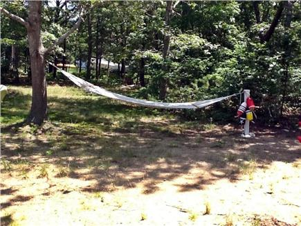 North Eastham Cape Cod vacation rental - Private back yard with hammock