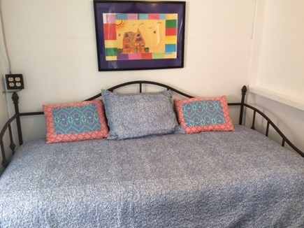 Harwich Port Cape Cod vacation rental - Back bedroom - trundle bed (two twins = one king)