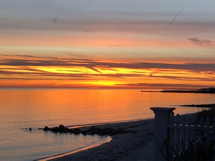 Harwich Port Cape Cod vacation rental - Sunrises and sunsets visible from the landing