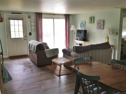 West Yarmouth - Seagull Beach Cape Cod vacation rental - Living room with sliding door