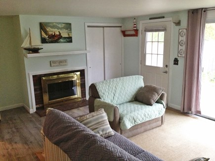 West Yarmouth - Seagull Beach Cape Cod vacation rental - Living area and fireplace