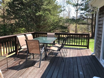 Eastham Cape Cod vacation rental - Spacious deck in private back yard