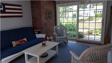 South Harwich Cape Cod vacation rental - Sunroom with new LL Bean futon couch