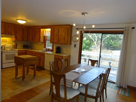 Orleans Cape Cod vacation rental - Dining area off kitchen with sliders to deck