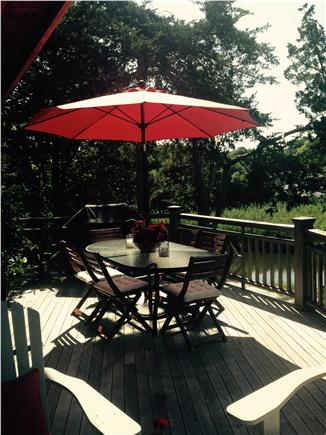 West Falmouth Cape Cod vacation rental - Deck