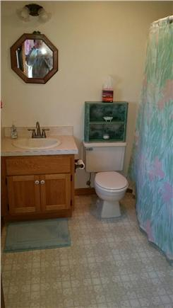 Eastham Cape Cod vacation rental - Upstairs master bathroom with tub & shower