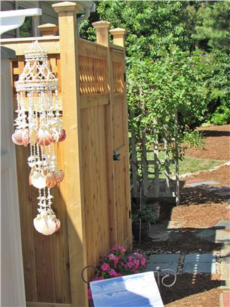 Dennisport Cape Cod vacation rental - Nice, clean outdoor shower and dressing area