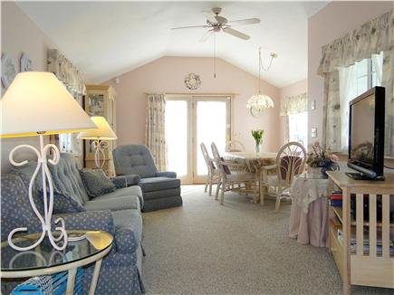 Dennisport Cape Cod vacation rental - Comfortable family and dining room w/ flat screen TV, ceiling fan