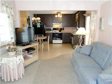 Dennisport Cape Cod vacation rental - Vaulted family room entering into Kitchen