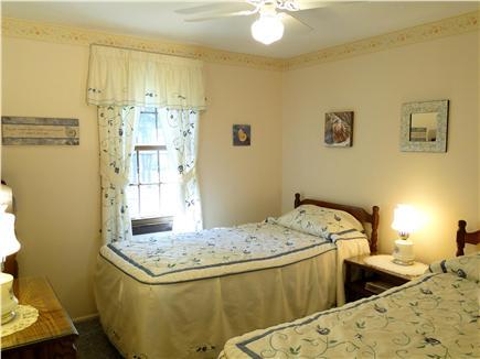 Dennisport Cape Cod vacation rental - Twin bedroom with ceiling fan