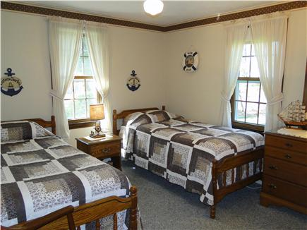 Dennisport Cape Cod vacation rental - Second twin bedroom with ceiling fan