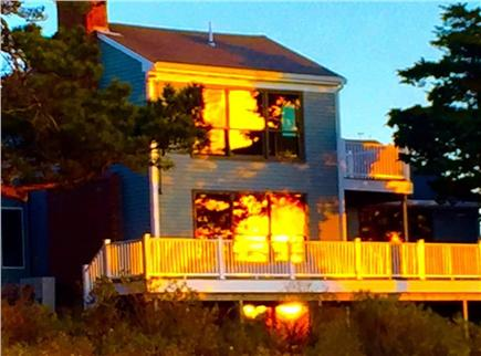 Orleans, Nauset Heights Cape Cod vacation rental - Sunsets can light up Doane Road with a view over the inlet.