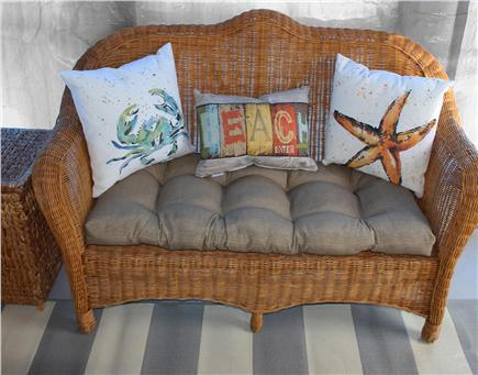Dennis Port Cape Cod vacation rental - Comfy seating on the screened porch