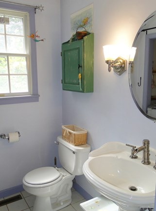 Brewster Cape Cod vacation rental - First floor bathroom with washer and dryer area