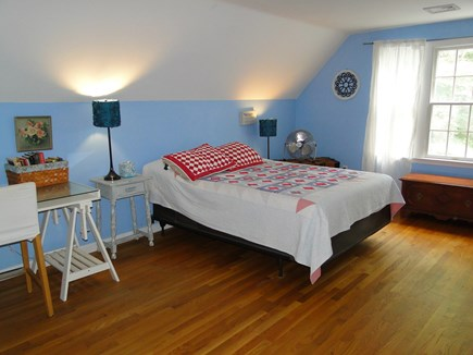 Brewster Cape Cod vacation rental - Upstairs master bedroom with queen bed, TV