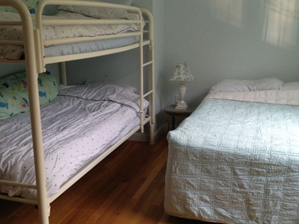 Brewster Cape Cod vacation rental - Blue Bedroom - Bunk Beds - Full-sized Bed - Spacious Closet