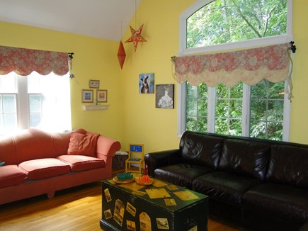 Brewster Cape Cod vacation rental - Spacious Family Room with two couches, vaulted ceilings
