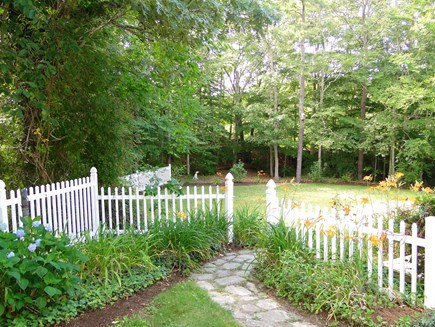 Brewster Cape Cod vacation rental - Entrance to the fenced in back yard