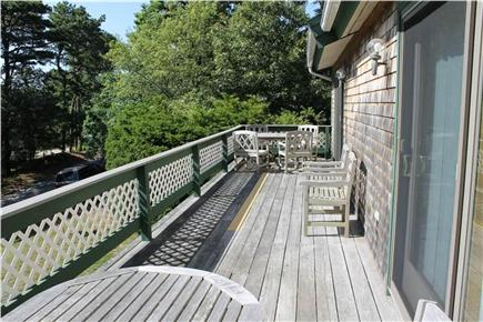 Brewster Cape Cod vacation rental - The deck runs the full length of the house. Enjoy the view!