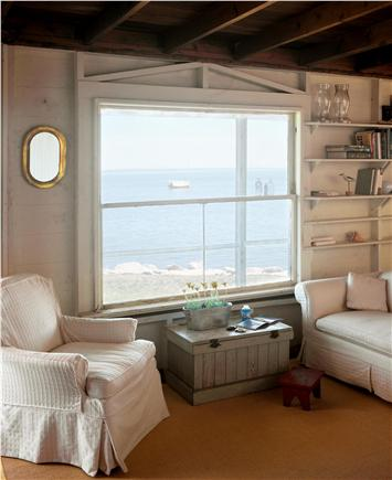 North Chatham Cape Cod vacation rental - Living Room with water views