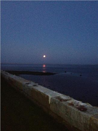 North Chatham Cape Cod vacation rental - Moonrise from deck