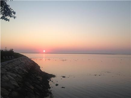 North Chatham Cape Cod vacation rental - Sunrise from deck