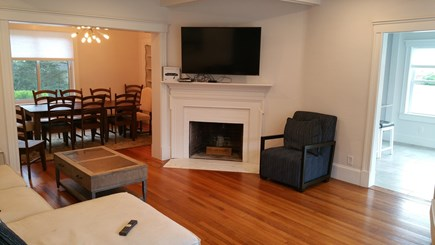Harwichport Cape Cod vacation rental - Main house living room, dining rooom and kitchen